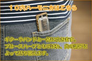 10穴ハーモニカ【ハーモニカ・オカリナ等の通販・フジクラ楽器】